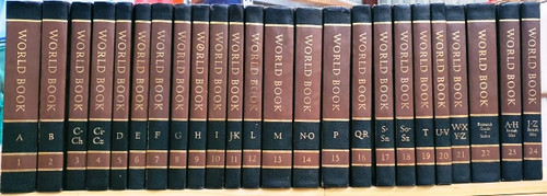 World Book Encyclopedia 1981/2 (Brown and Black Spine) (Complete 24 Book Encyclopedia Set)