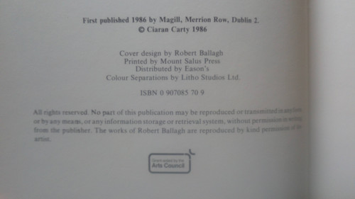 Carty, Ciaran - Robert Ballagh  : Artist - Hb  1st Edition, Magill 1986