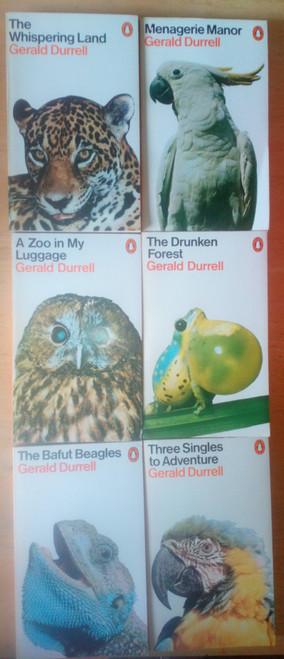 Durrell, Gerard - 6  Book Lot - Vintage 1970's Penguin Paperbacks - Nature writing