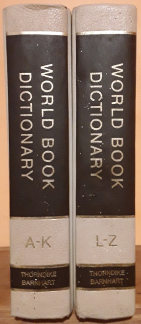 Thorndike Barnhart World Book Dictionary Brown Spine (Complete 2 Book Set)
