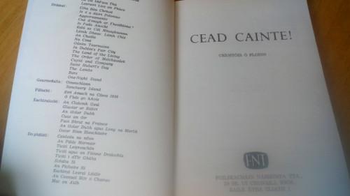 Ó Floinn, Críostóir - Cead Cainte! - PB As Gaeilge Iriseoireacht 1970-71 1st ED - Limerick