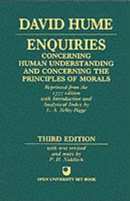 Hume, David / Enquiries concerning Human Understanding and concerning the Principles of Morals