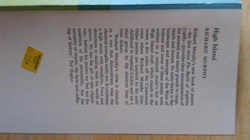 Murphy, Richard - High Island - Faber PB Poetry 1st Edition 1974