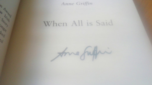 Griffin, Anne - When All is Said - SIGNED PB - 2019