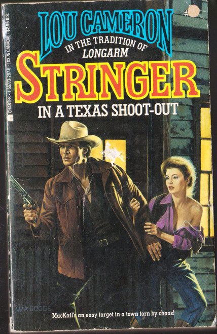 Lou Cameron / Stringer in a Texas Shoot-Out (Vintage Paperback)