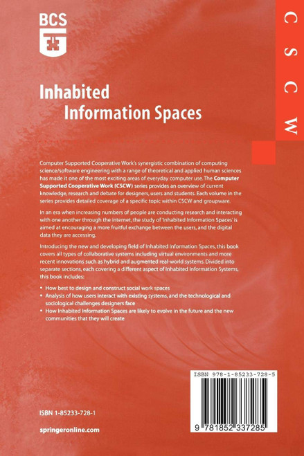 Snowdon, David N , Churchill, Elizabeth F. Frecon, Emmanuel ( Eds) Inhabited Information Spaces - Computer Supported Cooperative Work - PB 2004