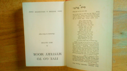 Blyton, Enid - Five Go To Mystery Moor ( Famous Five , Book 13 ) - Vintage HB 3rd Impression 1956- Illustrations by Eileen Soper
