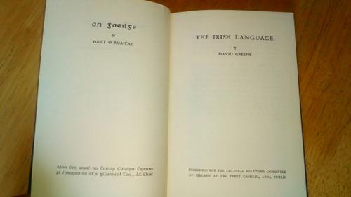 Greene, David - The Irish Language - HB- 1966 - Stair na Gaeilge