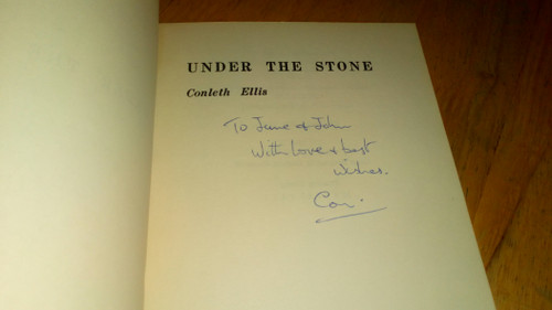 Ellis, Conleth - SIGNED - Under the Stone - Poetry PB 1971 1st Edition