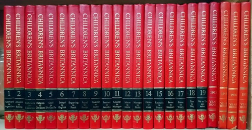 Children's Britannica 1993 (Complete 19 Book Encyclopaedia Set) with 4 Year books
