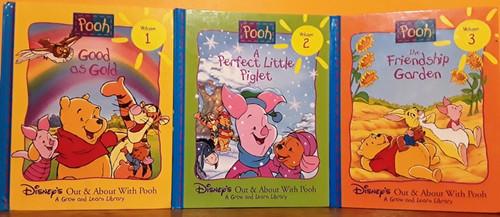 Disney's Out & About with Pooh: A Grow and Learn Library (18 Book Collection)