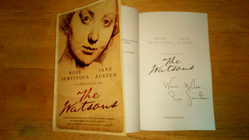 Servitova, Rose - The Watsons - SIGNED PB 2019 Brand New - Jane Austen