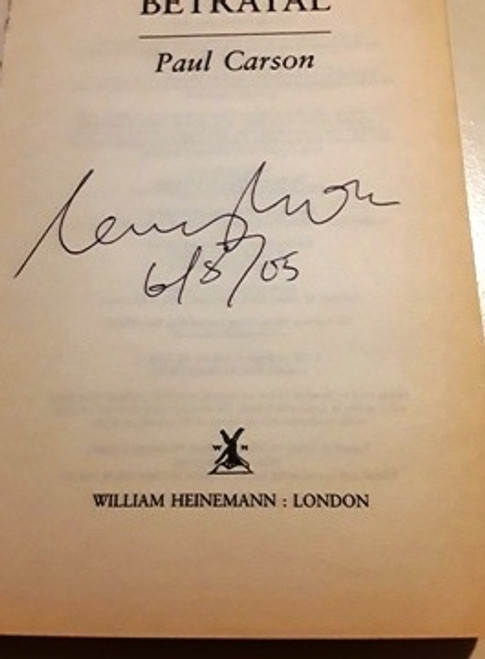 Paul Carson / Betrayal (Signed by the Author) (Large Paperback)