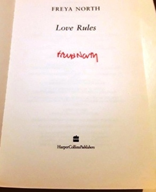 Freya North / Love Rules (Signed by the Author) (Large Paperback)