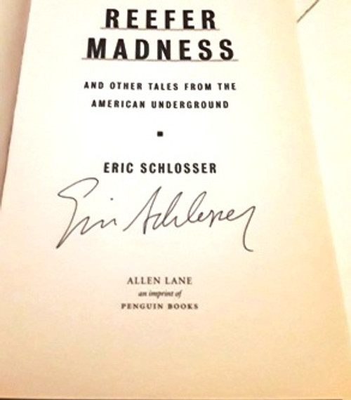 Eric Schlosser / Reefer Madness (Signed by the Author) (Large Paperback)
