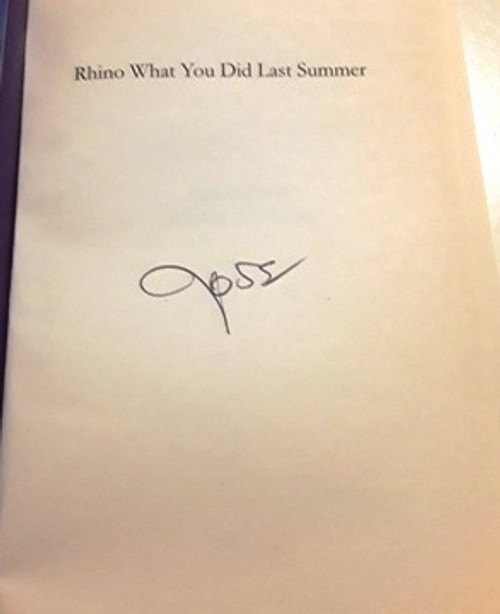 Ross O'Carroll-Kelly / Rhino What You did Last Summer (1) (Signed by the Author) (Large Paperback)