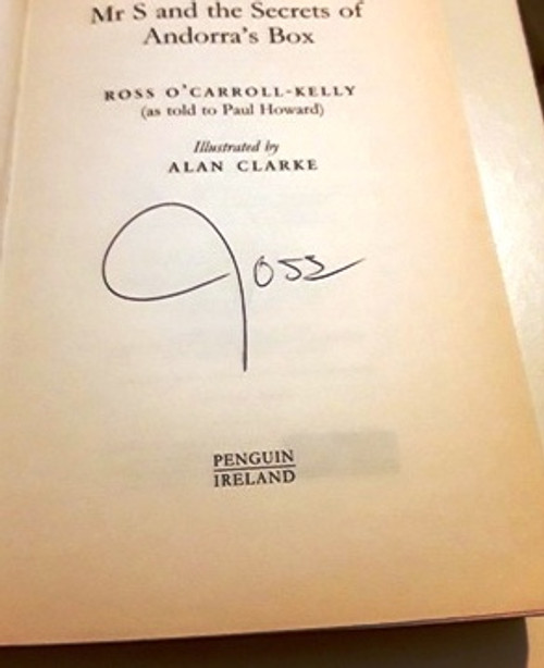 Ross O'Carroll-Kelly / Mrs S and the Secrets of Andorra's Box (Signed by the Author) (Large Paperback)