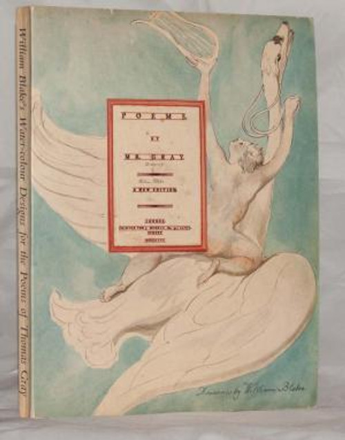 William Blake's Watercolours Illustrating the Poem of Thomas Gray- HB Facsimile Edition 1972 - With an Introduction  and Commentary by Sir Geoffrey Keynes