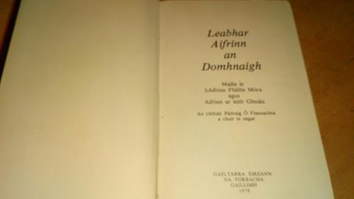 An Leabhar Aifrinn - HB As Gaeilge Catholic Mass Book, Gaeltarra 1978 - Ex library copy