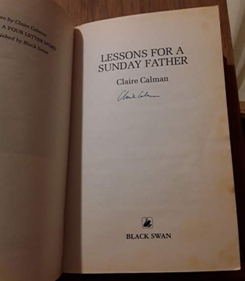 Claire Calman / Lessons for a Sunday Father (Signed by the Author) (Paperback)