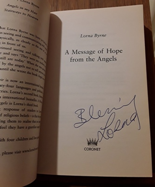 Lorna Byrne / A Message of Hope from the Angels (Signed by the Author) (Paperback)
