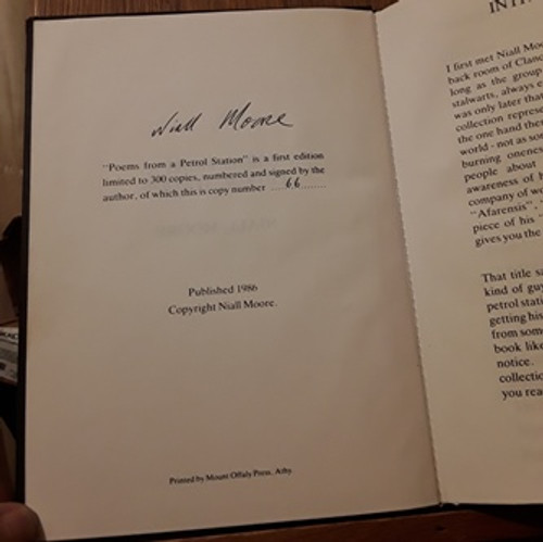 Niall Moore / Poems from a Petrol Station (Signed by the Author) (Hardback)