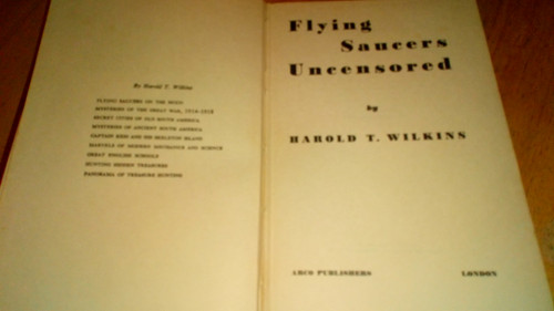 Wilkins, Harold T - Flying Saucers Uncensored - HB UK 1st Edition 1956 UFO's