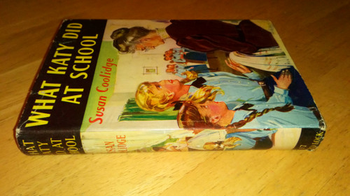 Coolidge, Susan - 3 BOOK LOT - , What Katy Did, What Katy Did Next, &  What Katy Did at School - 2 Vintage HB Edition  & 1 Vintage PB  Armada Ed