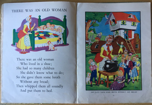 Jack and Jill Nursery Rhymes HB - Vintage 1920's Birn Publishing