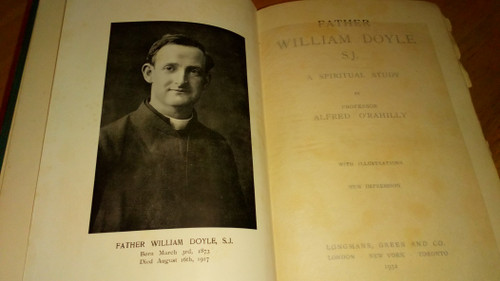O'Rahilly, Alfred - Father William Doyle SJ - WW1 - HB 1932 - Biography