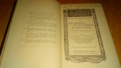 Wright, Charles H. H - The Writings of Patrick , The Apostle of Ireland HB - Christian Classics Series 1880's