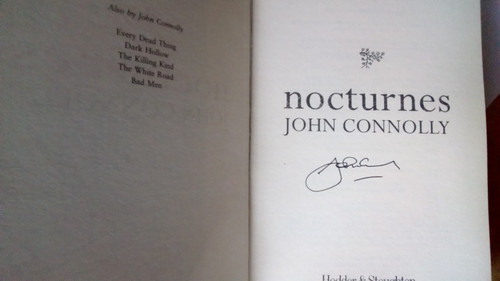 Connolly, John - Nocturnes - HB 1st Edition SIGNED - Short Stories 2004