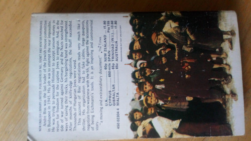 Biss, Andre - A Million Jews to Save - Vintage PB 1975 - Holocaust Hungary