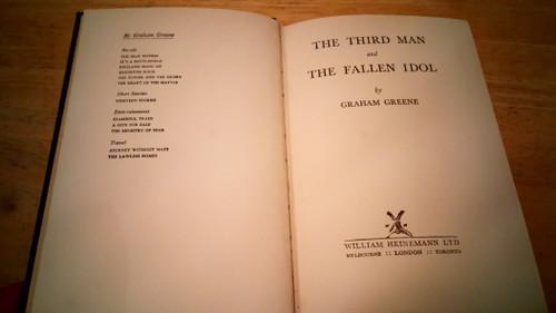 Greene, Graham - The Third Man & The Fallen Idol - HB  UK 1st Ed 1950 U