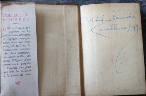 Saint-Exupery, Antoine de - Vol de Nuit - HB ( Association Copy, Signed by Micheál Mac Liammóir, 1949 , Casablanca)