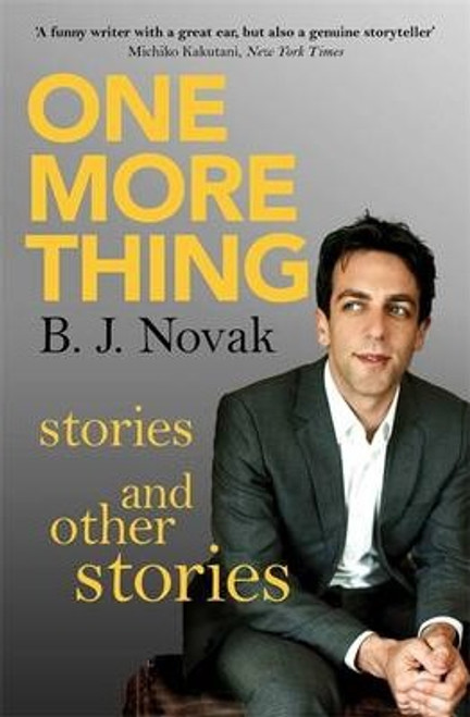 Novak, B. J. / One More Thing : Stories and Other Stories (Large Paperback)