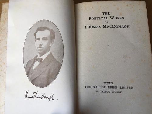 MacDonagh, Thomas - The Poetical Works of Thomas MacDonagh - HB Vintage Talbot Press Ed - 1930's