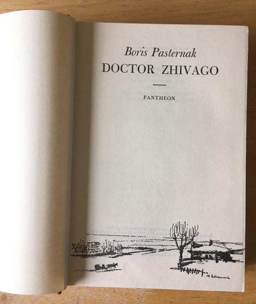 Pasternak, Boris - Doctor Zhivago - US HB 1958 Pantheon Edition