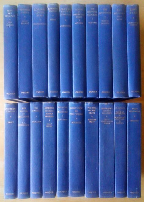 20 Oxford World Classics - HB - Uniform Blue Hardback Small Format Classics -  Lot