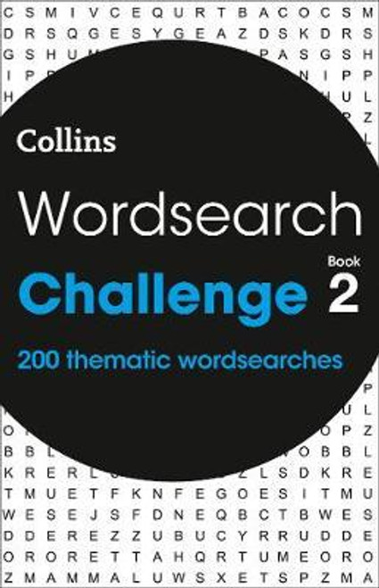 Collins Wordsearch Challenge - Book 2 - PB - 200 Thematic Word Search Puzzles