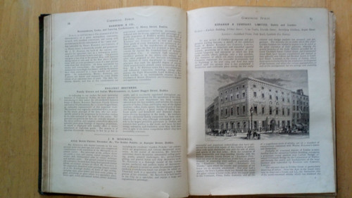 Strattens' Dublin , Cork , Limerick & the South of Ireland - A Literary Commercial and Social Review : With a Description of leading mercantile Houses and Commercial Enterprises - HB 1892