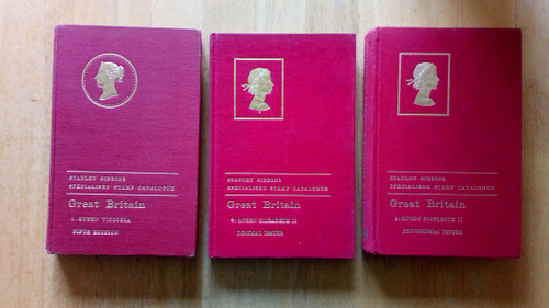 Stanley Gibbons UK - Stamp Catalogues - QE2 Decimal & Pre-Decimal , Simplified Stamp Catalogue 1946 , & Empire Catalogue 1944- 5 HB lot - Philately