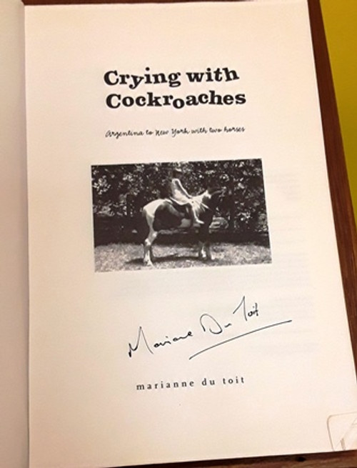 Marianne Du Toit / Crying with Cockroaches (Signed by the Author) (Large Paperback)