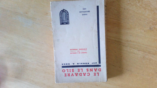 Knox, Ronald A - Le Cadavre Dans Le Silo ( The Body in the Silo )   ( Vintage 1934 PB ) - French Language - Durendal Collection