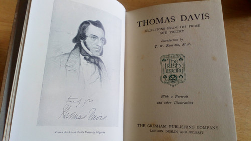 Davis, Thomas - Selections From His Prose and Poetry - Vintage  Gresham HB - The Irish Library
