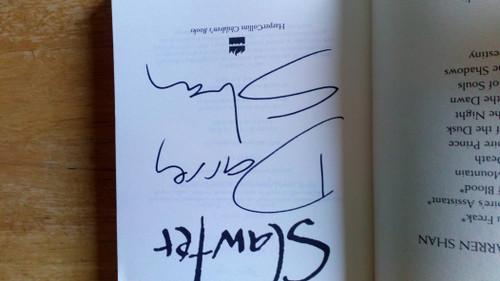 Shan, Darren - Slawter - SIGNED PB - ( Demonata - Book 3 )