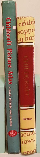 Childcraft Dictionary and Green Cover Picture Atlas (2 Book Collection)