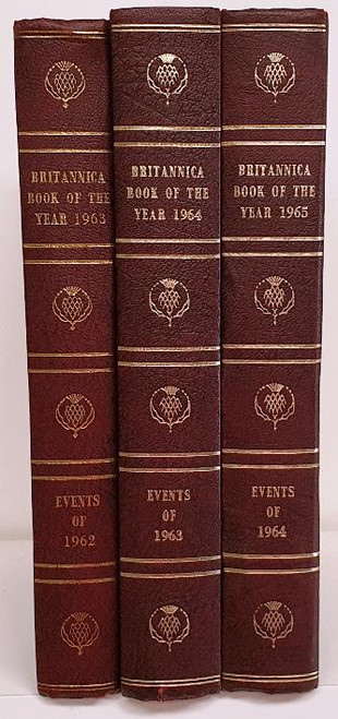Britannica Book of the Year 1963 - 1965 (3 Book Collection)