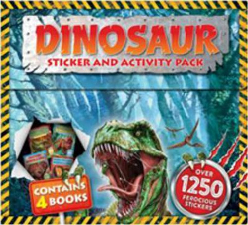 Dinosaur Sticker and Activity Pack (4 Book Box Set)