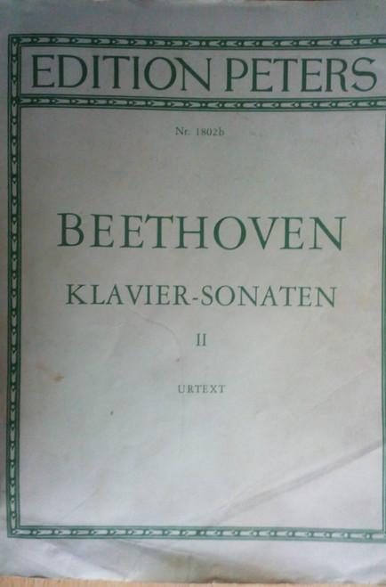 Beethoven - Piano Sonatas Vol II - Edition Peters - Vintage PB - Sheet MUSIC